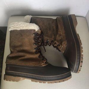 Sorel Crusader Waterproof Brown Leather  boot sz10
